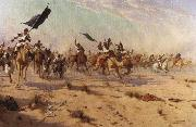 Flight of the Khalifa after his defeat at the battle of Omdurman
