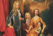 James Brydges (later 1st Duke of Chandos) and his family