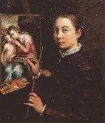 Sofonisba Anguissola Self Portrait oil painting reproduction