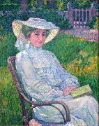 Lady in White - Portrait of Mrs. Theo Van Rysselberghe