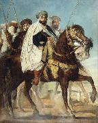 Caliph of Constantinople and Chief of the Haractas, Followed by his Escort