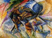 Umberto Boccioni Dynamism of a Biker oil painting artist