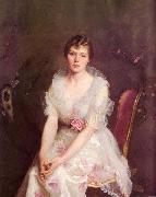 William McGregor Paxton Portrait of Louise Converse oil painting artist