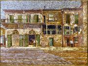 Old Absinthe House, corner of Bourbon and Bienville Streets, New Orleans.