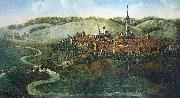 oil-painting of Hersfeld, painted from Conrad Schnuphaseim in
