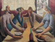 unknow artist French Cafe oil painting reproduction