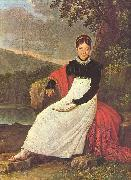 Queen Caroline (Bonaparte) of Naples in the tradiontal costume of a Neapolitean farmer.