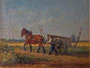 Farmer with horse and cart