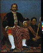 Oil painting depicting Raden Wangsajuda, patih of Bandung, West Java