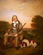 Oil on canvas portrait of John James Audubon