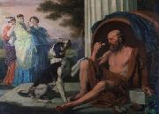 Oil painting of Diogenes by Pugons