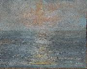 unknow artist Sunset at sea oil painting reproduction