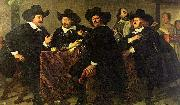 unknow artist Four aldermen of the Kloveniersdoelen in Amsterdam oil painting reproduction