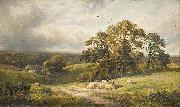 A quiet scene in Derbyshire (oil painting) by George Turner
