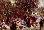 Adolph von Menzel Nachmittag im Tuileriengarten oil painting reproduction