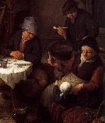 Peasant Family in a Cottage Interior