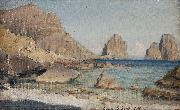 Albert Hertel Capri oil painting