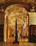 Alexey Tyranov View on the Hermitage Library oil painting