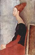 Amedeo Modigliani Portrat der Jeanne Hebuterne in dunkler Kleidung oil painting on canvas
