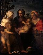 Madonna and Child with Sts Catherine, Elisabeth and John the Baptist