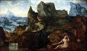 Anonymous Landscape with the Repentant Mary Magdelene oil painting reproduction