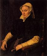 Anthonis Mor Portrait of Anne Fernely oil painting