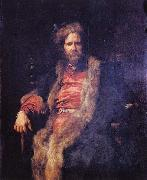 Anthony Van Dyck Portrait of the one-armed painter Marten Rijckaert. oil painting on canvas