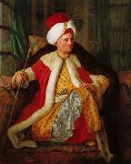 Antoine de Favray Portrait of Charles Gravier Count of Vergennes and French Ambassador, in Turkish Attire oil painting