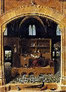 Antonello da Messina St Jerome in his Study oil painting reproduction