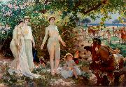 Attilio Simonetti The Judgement of Paris oil painting reproduction