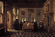 BASSEN, Bartholomeus van Five ladies in an interior oil painting