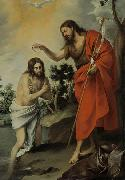 Bartolome Esteban Murillo The Baptism of Christ oil painting reproduction