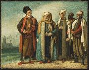 The Ambassador from Tunis with His Attendants as He Appeared in England in 1781