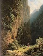 Carl Spitzweg Maherinnen im Gebirge oil painting reproduction