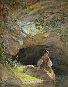 Carl Spitzweg Badendes Madchen oil painting reproduction
