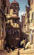 Carl Spitzweg Der Briefbote im Rosenthal oil painting reproduction