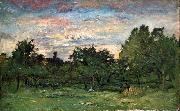 Charles Francois Daubigny Landscape oil painting reproduction