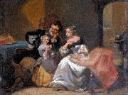 Charles van den Daele A happy family oil painting on canvas