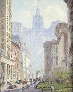 Chambers Street and the Municipal Building, N.Y.C.