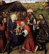 DARET, Jacques Altarpiece of the Virgin oil painting