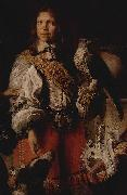 Daniel Schultz the Younger Detail of the Crimean falconer depicting the falconer of king John II Casimir in French costume. oil painting