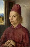 Dieric Bouts Portrait of a Man oil painting reproduction