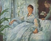 Edouard Manet Beim Lesen oil painting reproduction