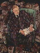 Egon Schiele Portrait of Hugo Koller oil painting on canvas