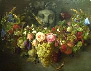 Garland of Fruits and Flowers