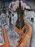 Ernst Ludwig Kirchner Der rote Turm in Halle oil painting reproduction