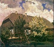 Ferdynand Ruszczyc Manor house in Bohdanew oil painting reproduction