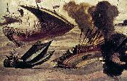 Filippo Napoletano Naval Battle oil painting