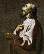 Francisco de Zurbaran Detail from Saint Luke as a Painter before Christ on the Cross. Widely believed to be a self-portrait oil painting reproduction