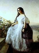 Francois Auguste Biard Portrait of a woman oil painting reproduction